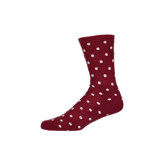 CREW RED WHITE SOCK