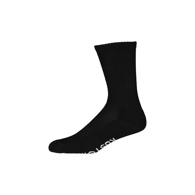 LOGO CREW SOCK / BLACK WHITE