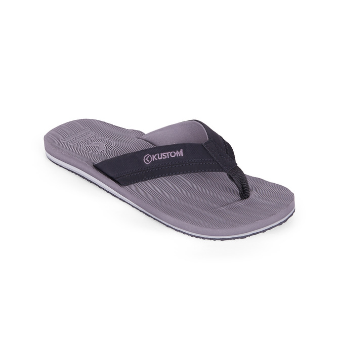KUSTOM THONGS BURLEIGH / GREY BLACK