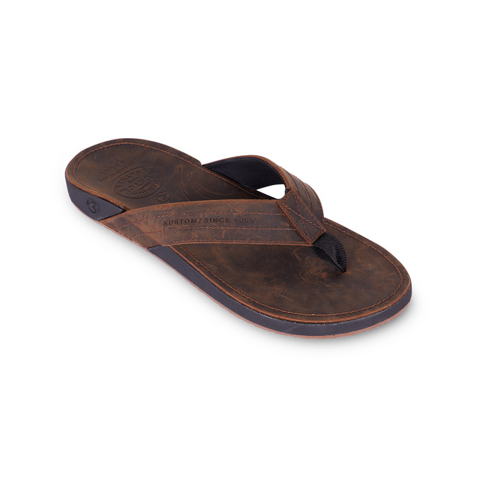 KUSTOM THONGS CRUISER / CHOCOLATE LEATHER