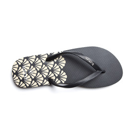 KUSTOM THONGS & SANDALS CLASSIC THONG / BONE BLACK