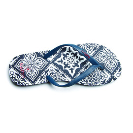 KUSTOM THONGS & SANDALS CLASSIC / NAVY PAISLEY