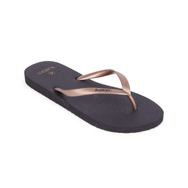 KUSTOM THONGS & SANDALS CLASSIC THONG / BLACK ROSE GOLD