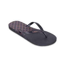 KUSTOM THONGS & SANDALS CLASSIC THONG / BLACK ROSE