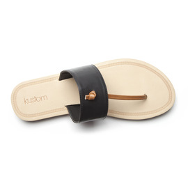 KUSTOM THONGS & SANDALS JASMINE SANDAL / SMOOTH BLACK