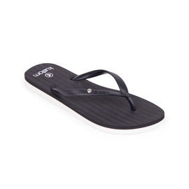 KUSTOM THONGS & SANDALS INFINITY THONG / BLACK WHITE