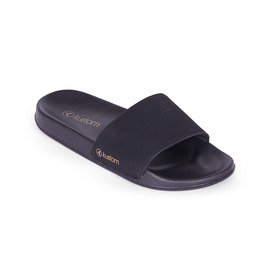 KUSTOM THONGS & SANDALS MAYA SLIDE / ALL BLACK