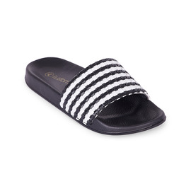 KUSTOM THONGS & SANDALS MAYA SLIDE / BLACK WHITE