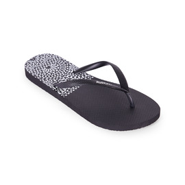 KUSTOM THONGS & SANDALS CLASSIC THONG / BLACK TO PATTERN