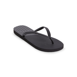 KUSTOM THONGS & SANDALS CLASSIC / BLACK SILVER