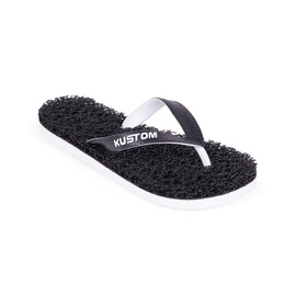 KUSTOM THONGS BOYS NOODLE / BLACK WHITE