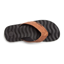 KUSTOM SANDALS HUMMER DLX THONG / BROWN DISTRESSED