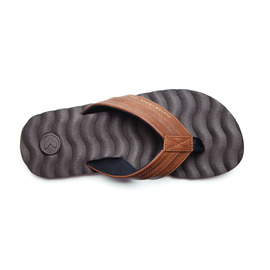 KUSTOM SANDALS HUMMER DLX THONG / CHOC BROWN