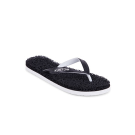 KUSTOM THONGS NOODLE THONG / BLACK WHITE