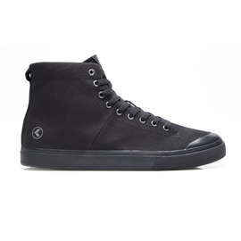 KUSTOM SHOES WORLD VULC HI SHOE / ALL BLACK