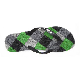 KUSTOM SANDALS NOODLE THONG / BLACK GREY GREEN