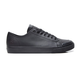 KUSTOM SHOES SLIM VULC SHOE / BLACK LEATHER
