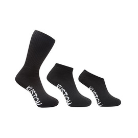 KUSTOM CLOTHING & ACCESSORIES MIXED 3-PACK SOCKS / BLACK