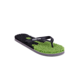KUSTOM THONGS NOODLE DRIP THONG / BLACK LIME