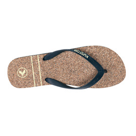KUSTOM SANDALS CORKED THONG / BROWN