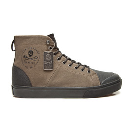KUSTOM SHOES SEA SHEPHERD HI BOOT / ARMY BLACK