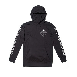 KUSTOM CLOTHING & ACCESSORIES SS PLAYGROUND HOODED LONGSLEEVE / BLACK
