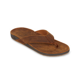 KUSTOM THONGS CRUISER / BROWN LEATHER