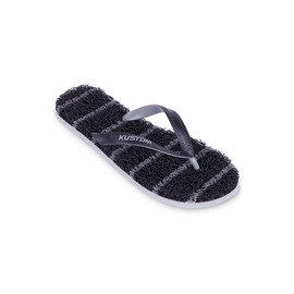 KUSTOM THONGS NOODLE THIN STRIPE / BLACK GREY
