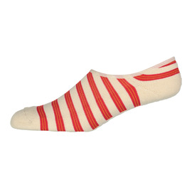 KUSTOM SOCKS M INVISIBLE RED STRIPE SOCKS