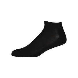 KUSTOM SOCKS  THE STANDARD ANKLE SOCK / BLACK WHITE