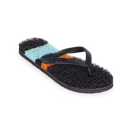 KUSTOM THONGS NOODLE SURF / BLACK ORANGE STRIPE