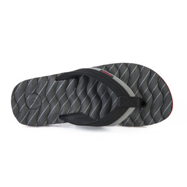 KUSTOM SANDALS HUMMER III THONG / BLACK GREY STRIPE