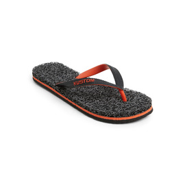 KUSTOM THONGS NOODLE MARLE / BLACK ORANGE