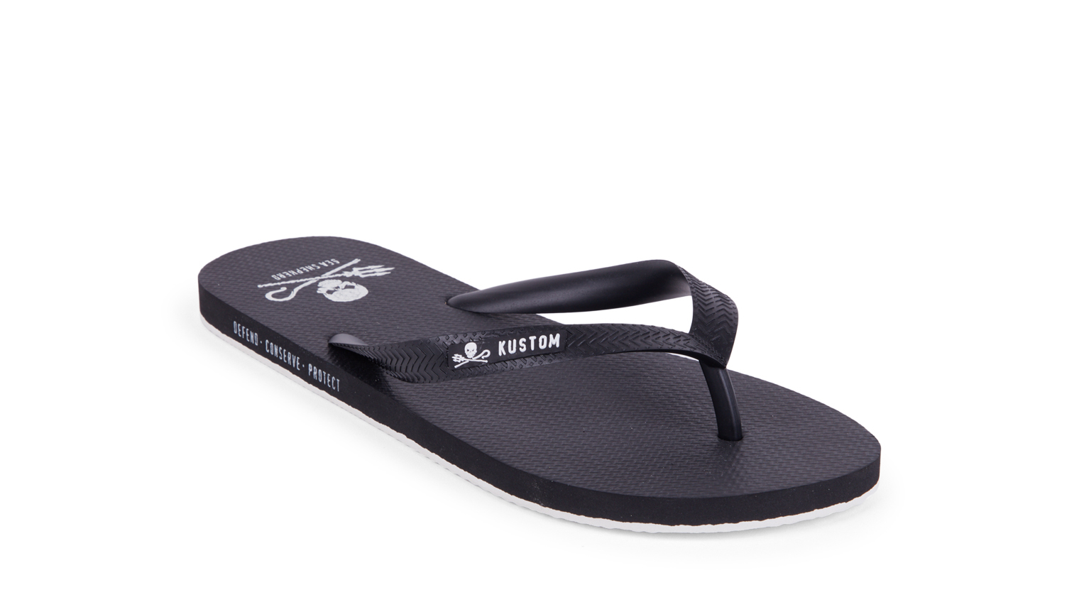KUSTOM THONGS SEA SHEPHERD THONG / BLACK