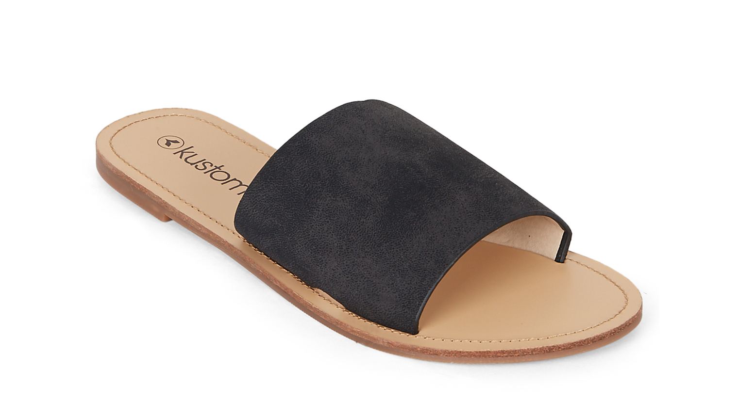 KUSTOM THONGS & SANDALS BYRON SANDAL / BLACK TAN