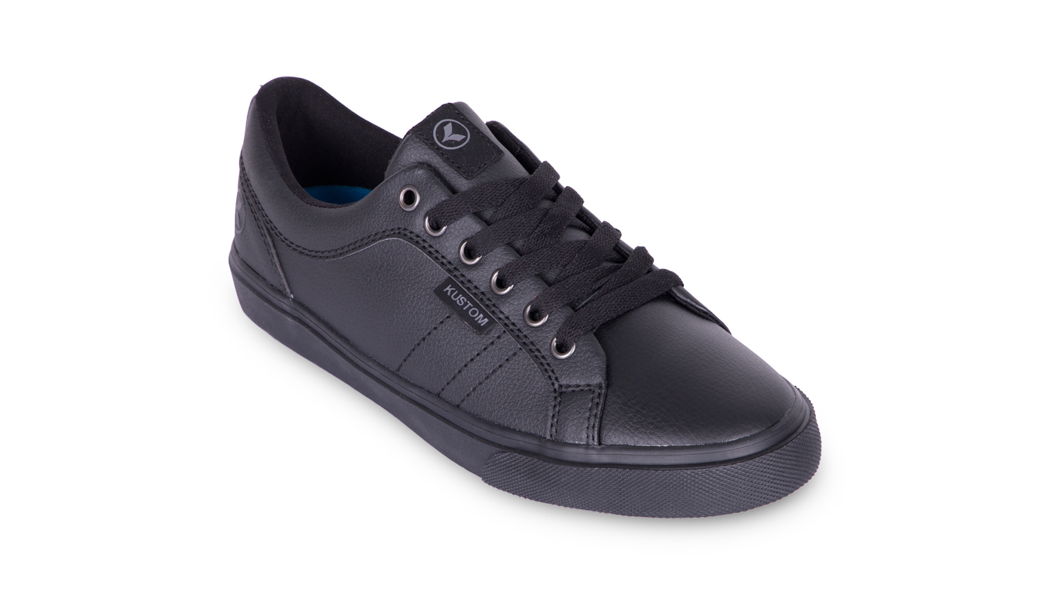 KUSTOM SHOES BOYS HIGHLINE CLASSIC SHOE / BLACK LEATHER