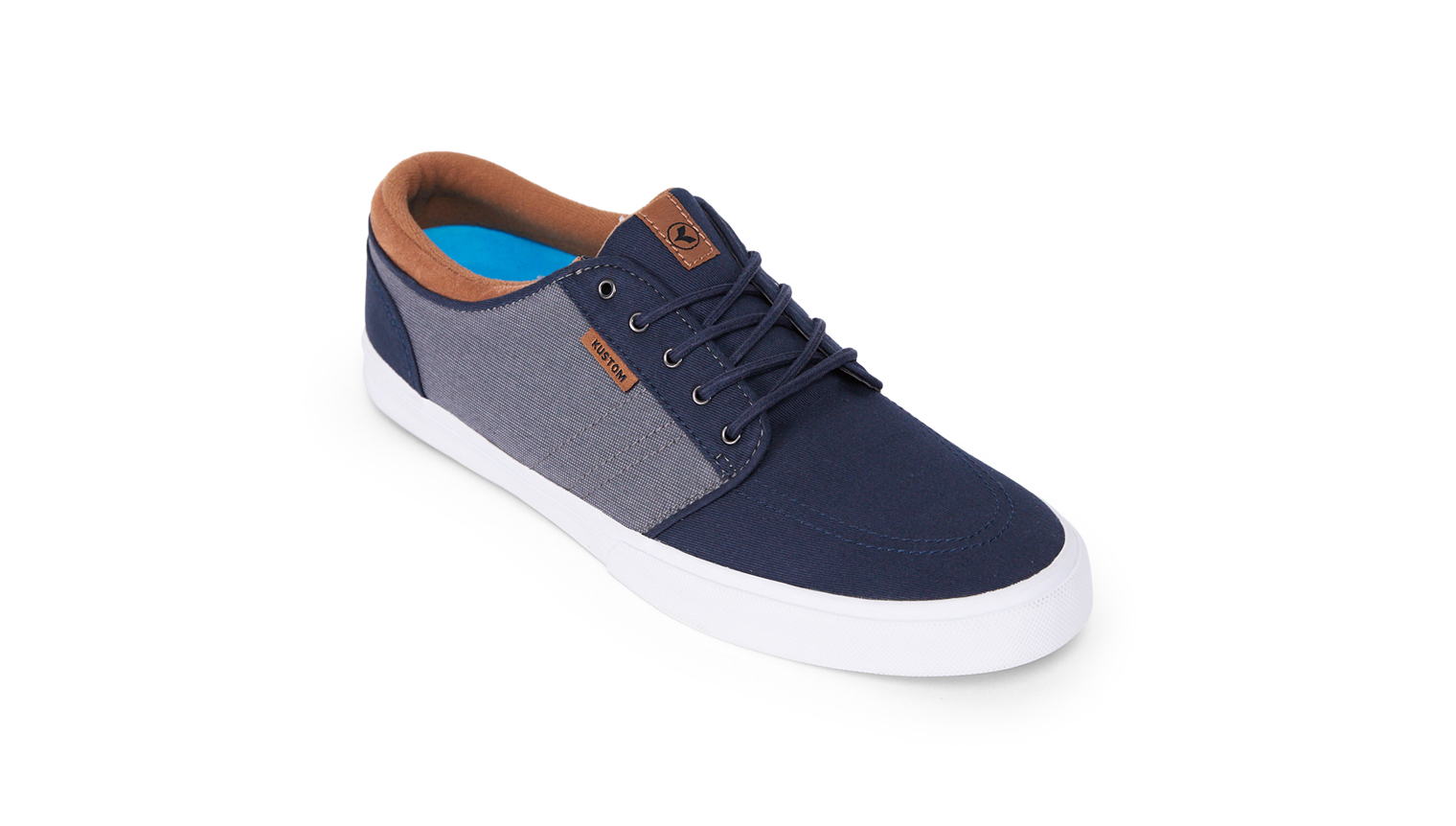 KUSTOM SHOES REMARK SHOE / NAVY GREY TAN