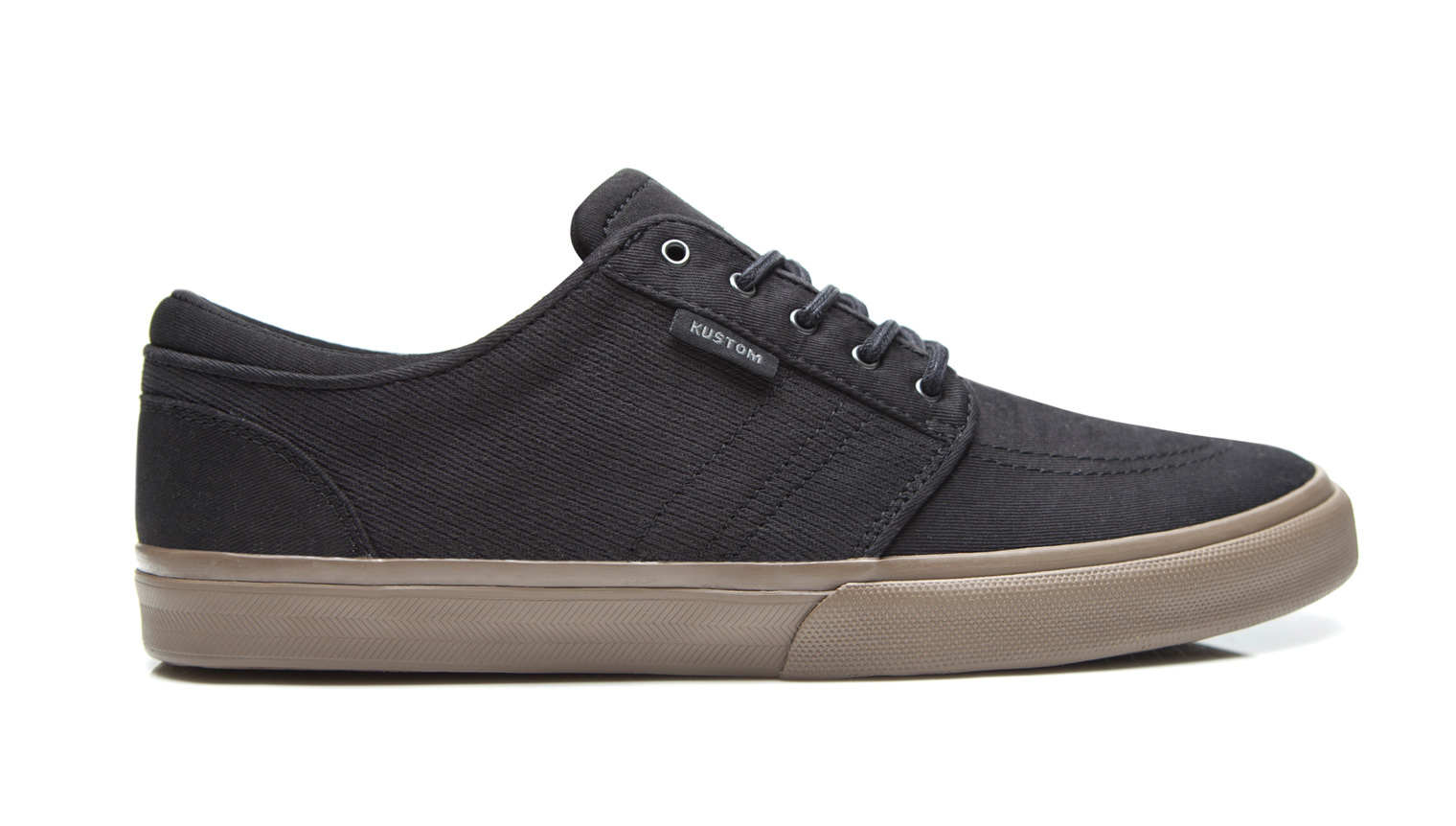 KUSTOM SHOES REMARK SHOE / BLACK TWILL