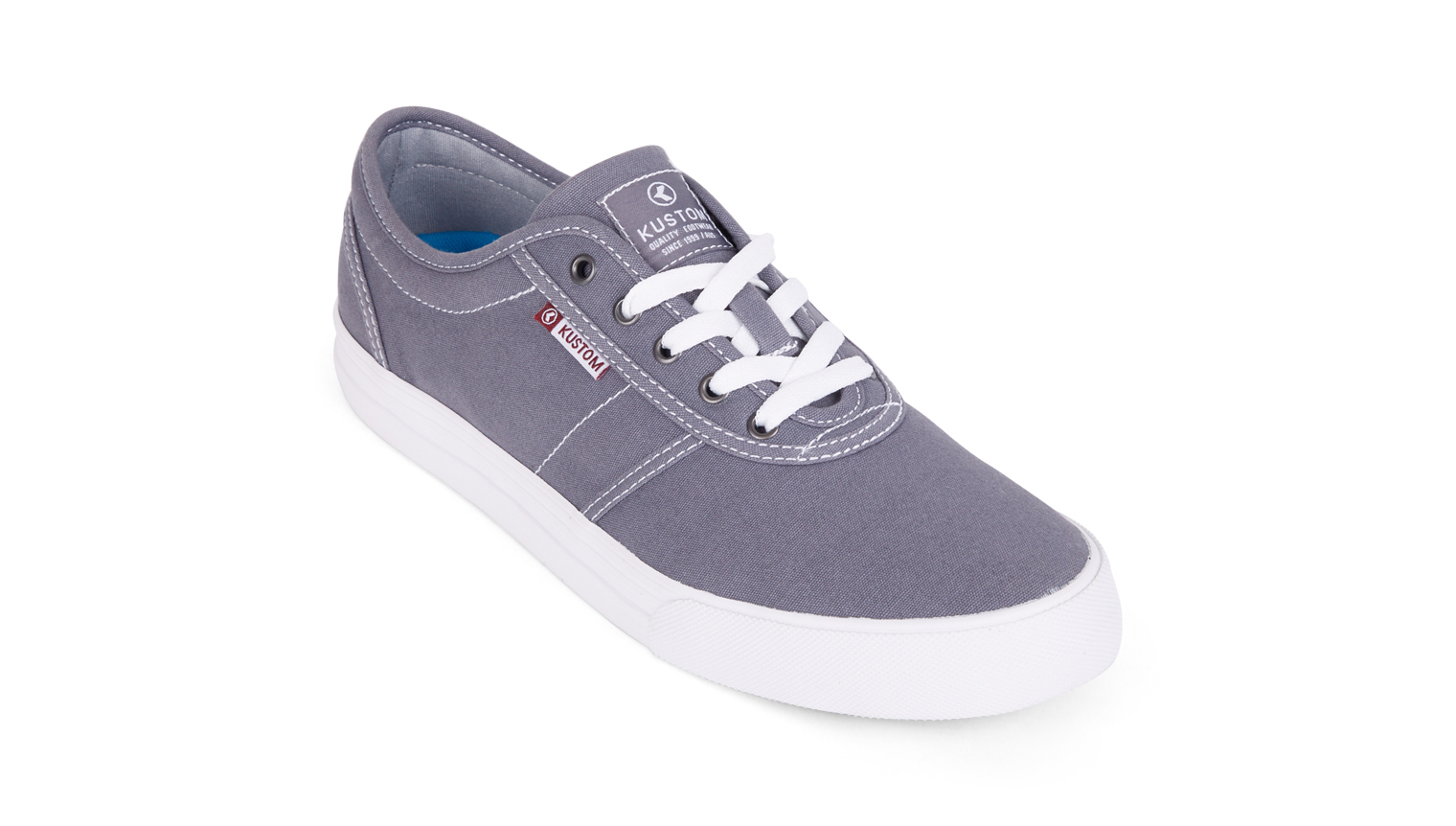 KUSTOM SHOES DROPKICK PRO SHOE / GREY WHITE